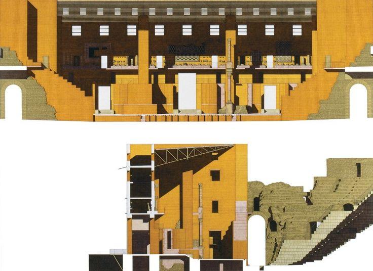 Roman Theatre, Sagunto byGiorgio Grassi, 1994.