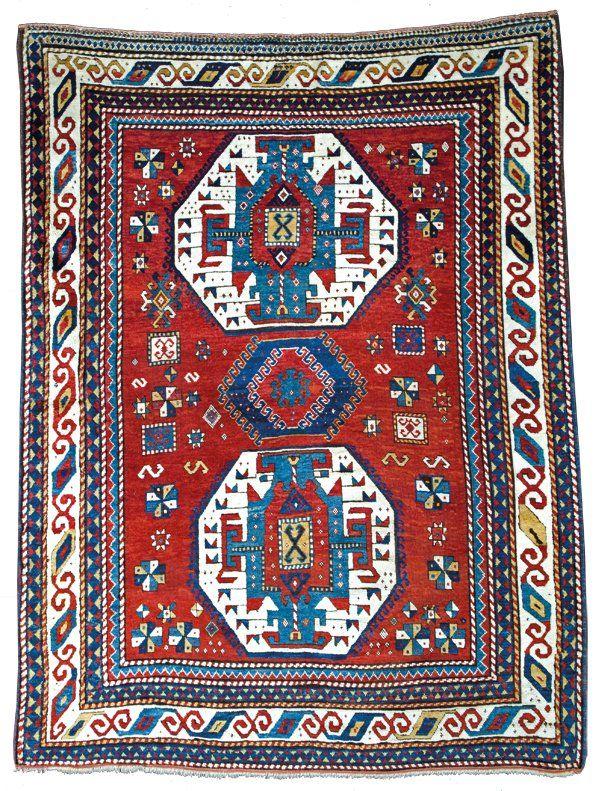 Lori Pambak Kazak rug, Caucasus circa 1870 (con immagini