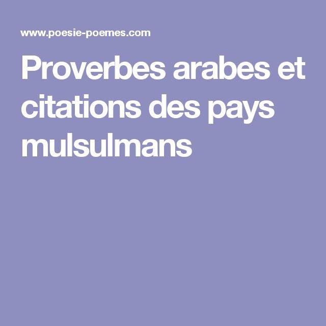 Bien connu Les 25 meilleures idées de la catégorie Citations musulmanes sur  WY53