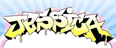 name done in graffiti style lettering