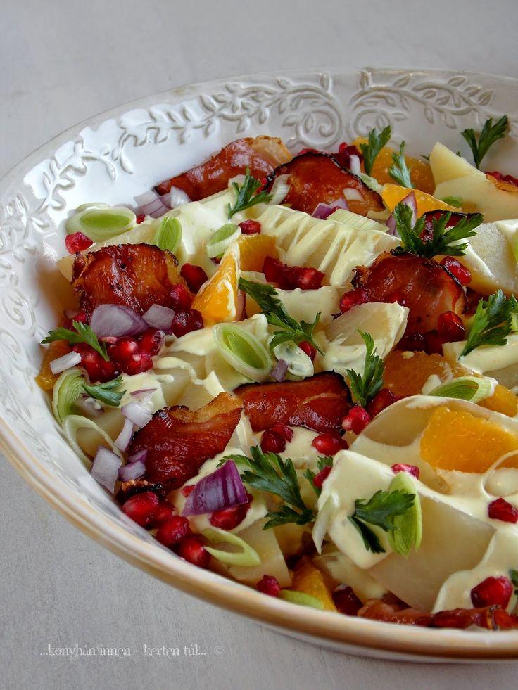...konyhán innen - kerten túl...: Narancsos-gránátalmás burgonyasaláta