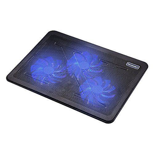 Tenswall USB Refroidisseurs pour Ordinateur Portable et de Notebook Blue LED Light 2 Ports USB 3-Fan Cooler Cooling Pad Adapté pour 15-17…