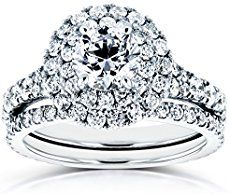 Lately double row halo design engagement rings are also becoming more popular, they are unique and beautiful. If you have a small diamond/budget, considering a double halo engagement ring might not be a bad idea. A d...