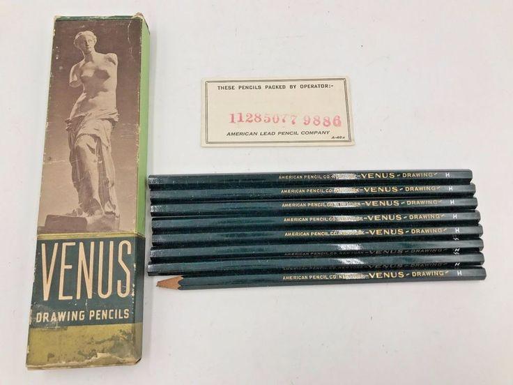 Vintage Venus Drawing Pencils H 3800 8-Count in Box American Pencil Co USA PC #Venus