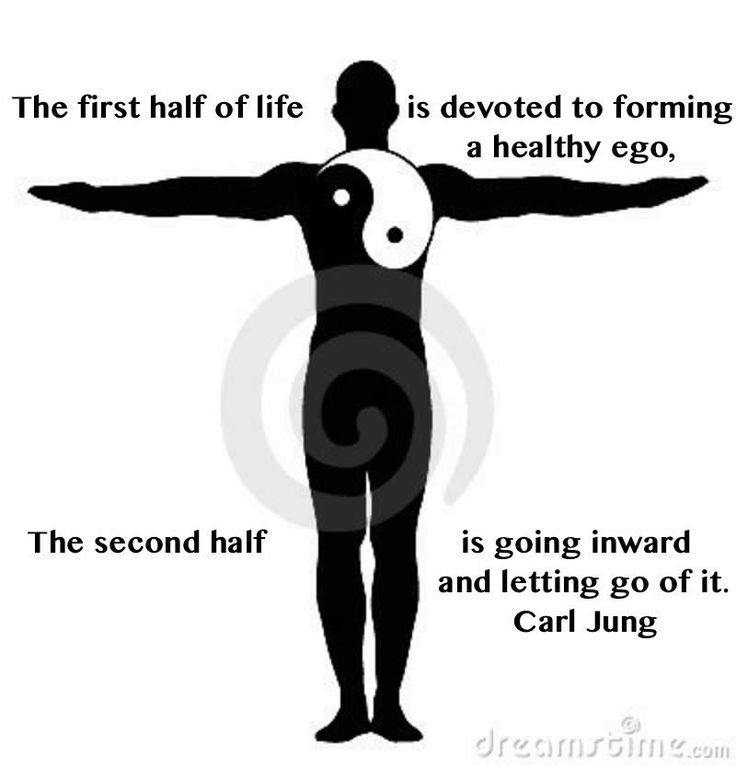 The first half of life is devoted to forming a healthy ego, the second half is going inward and letting to of it. ~Carl Jung Quotation