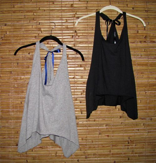 Jersey tank from men's t-shirts