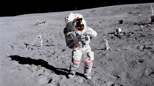 Astronaut John W. Young on a moonwalk during the Apollo 16 mission (Credit: NASA/SPL)