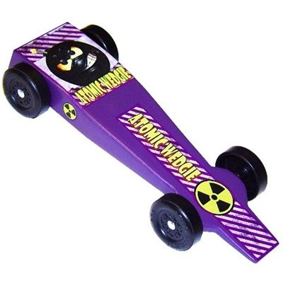 Atomic Wedgie Pinewood Derby Car Kit. Now this is a cool looking car... fast too!