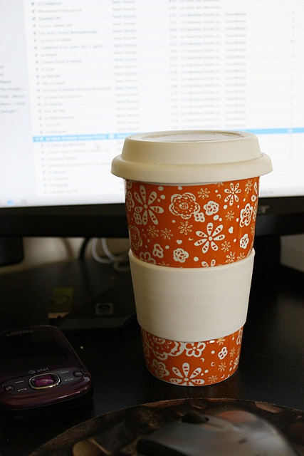 My favorite to go cup. Mine is this same cup except Tiffany blue, instead of orange.