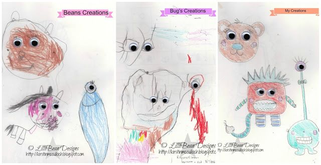 Creating with Kids: Lesson one LISTENING TO THE SQUEAK INSIDE art by Kirstin McCulloch of LilliBean Designs