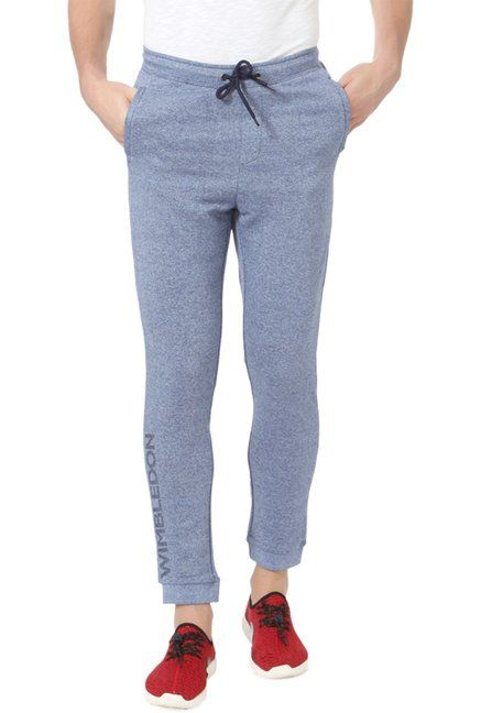eef951de593 Allen Solly Blue Mid Rise Cotton Joggers -