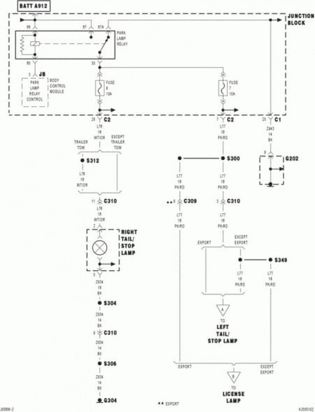 2005 jeep liberty tail light wiring diagram