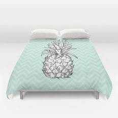 Pineapple & Chevrons Duvet Cover