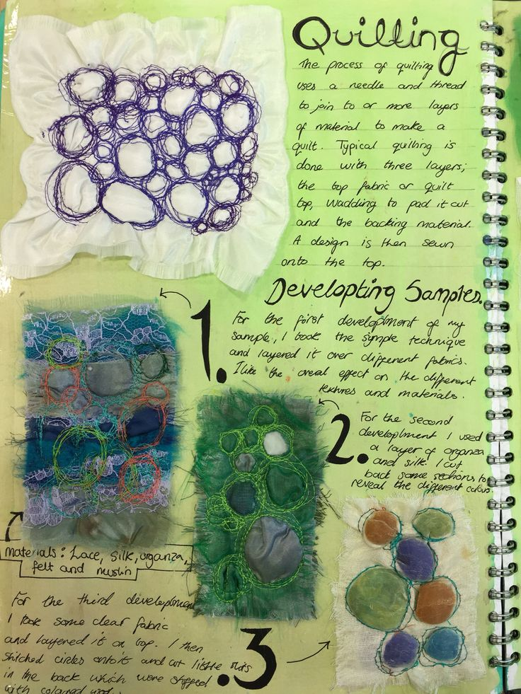 Developing textile processes- quilting. Raiyanne