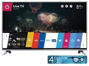 "Smart TV LED 3D 42"" LG 42LB6500 Full HD 1080p - Conversor Integrado DTV 3 HDMI 3 USB Wi-Fi WebOS"