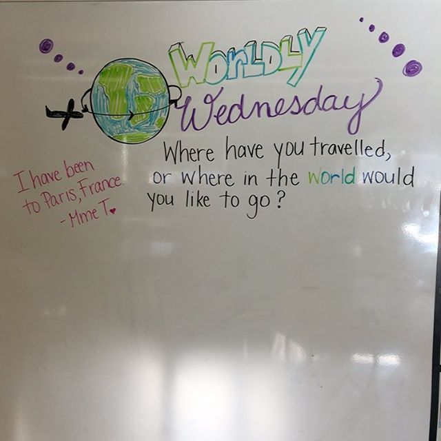 Where have you travelled? #miss5thswhiteboard #teachersofinstagram #teachersfollowteachers #iteach7th #iteachtoo