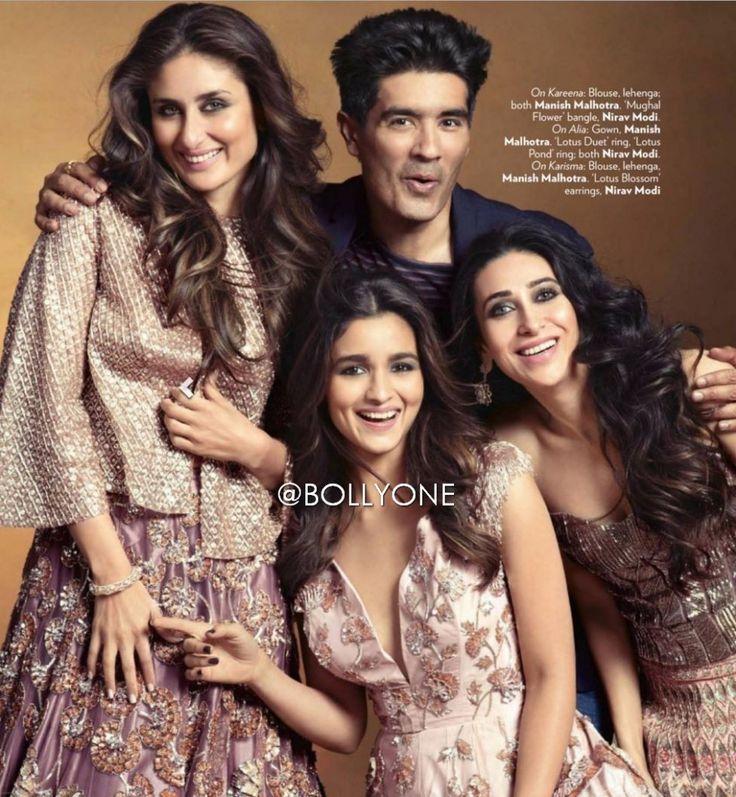 Kareena Kapoor, Alia Bhatt, Karishma Kapoor, Kajol, Sridevi features on the cover page of Vogue magazine December 2015. All the ladies are here poses in Fa