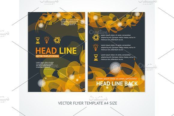 Flyer Design Templates Abstract #template #poster
