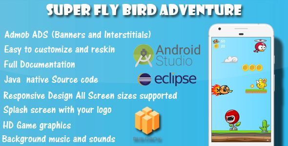 Super Fly Bird Adventure - Game Template Android With Admob Ads