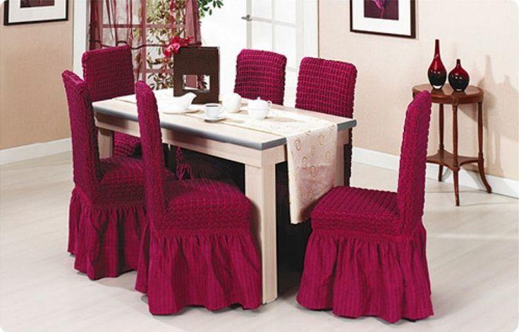 Чехлы для стульев со спинкой на кухню своими руками