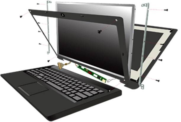 Dalle Ecran pour pc / ordinateur portable Toshiba Mini N300 Series 10.1 LED de remplacement pour votre moniteur cassé ou qui ne fonctionne plus -