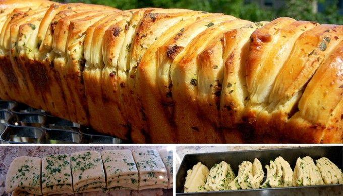 Česnekový trhací chlebíček