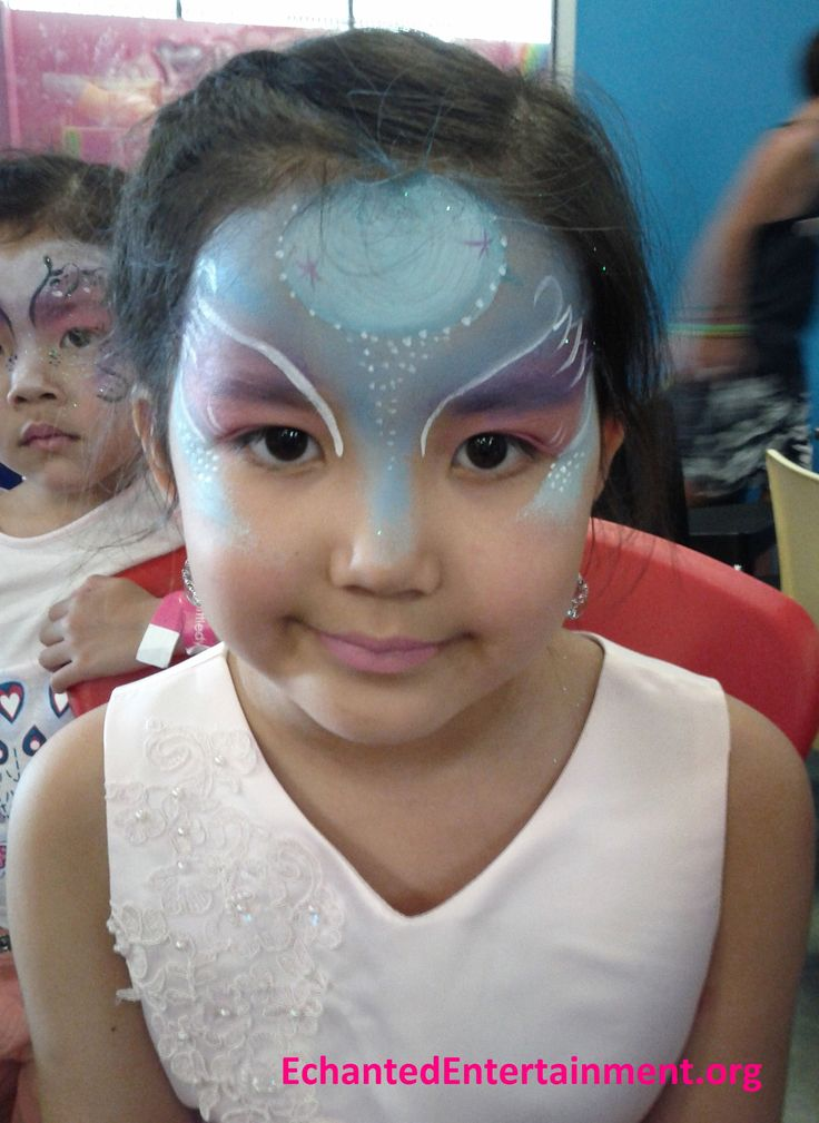 Swan princess face painting by EnchantedEntertainment.org  Character Parties, Face Painting & Entertainment for Children  Northern NSW & Gold Coast, Australia