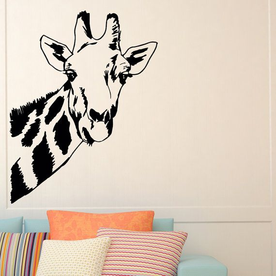 Giraffe Wall Decal Safari Jungle Wild animali parete decalcomanie vinile adesivi salotto camera da letto vivaio dormitorio Home Decor parete arte murale Z853