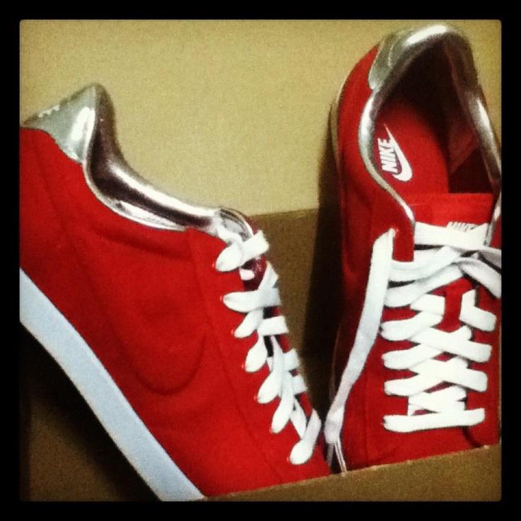 Nike red sneakers