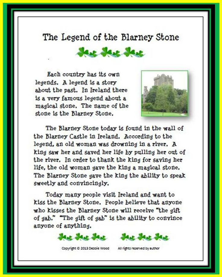The Legend of the Blarney Stone: Grandma kissed the Blarney Stone when she visited Ireland and boy did she have the gift of gab.