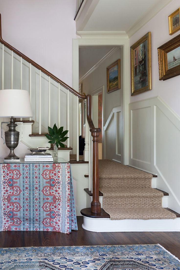 Pemberton Heights  Design Detail  Foyer  Staircase  American  Colonial  TraditionalNeoclassical by Meredith Ellis Design