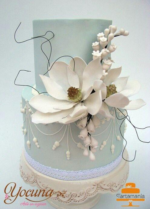 Simple Elegance! Magnolia Tiered Cake