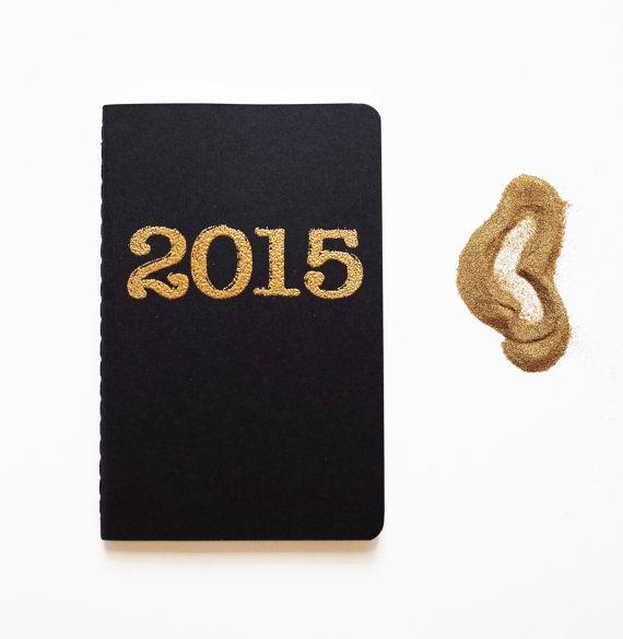 Gold 2015 diary pocket moleskine journal by blackbirdandpeacock