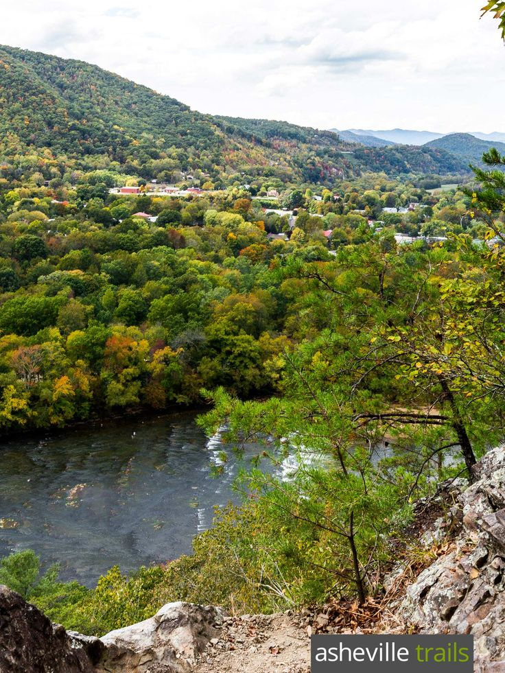Hike the Appalachian Trail in Hot Springs, NC to beautiful views at Lovers Leap