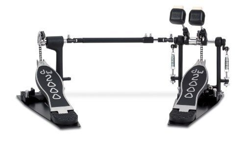 DW Drum Workshop 2000 Series Double Pedal by Drum Workshop, Inc.. $179.99. The DW 2002 Double Bass Drum Pedal gives you a 100% adjustable crossbar and fully customizable pedal angles. Featuring direct-chain drive, aircraft-quality linkage, double-sided beaters, heavy base plate, cast footpedals, and retractable spurs. This is a fantastic value for the burgeoning double-bass drummer.. Save 40% Off!