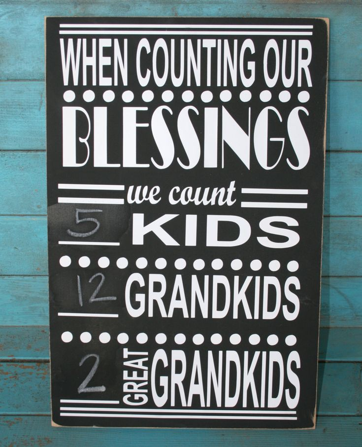 When Counting Our Blessings Personalized Grandparent by RoxieFlair, $46.00