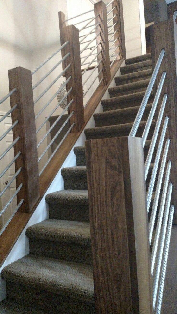 Best Rebar Railings Banisterremodel Rustic Stairs Deck 640 x 480