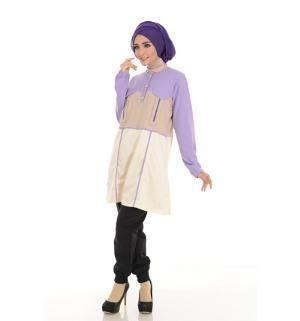 Baju Blus Tunik ALNITA AA-05 Lavender