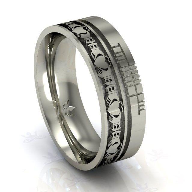 wedding ring cable railing scottish weddings wedding bands wedding