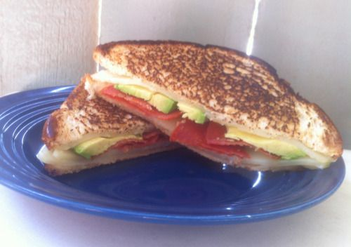 Avocado & Pepperoni Grilled Cheese!: Grilled Cheese