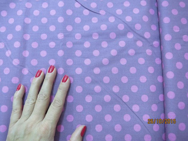 Bawełna wzór groszki - Fabricowo - Tkaniny naturalne