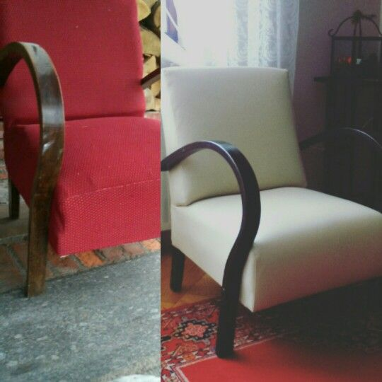 The second life of the armchair. I found it on the trash.