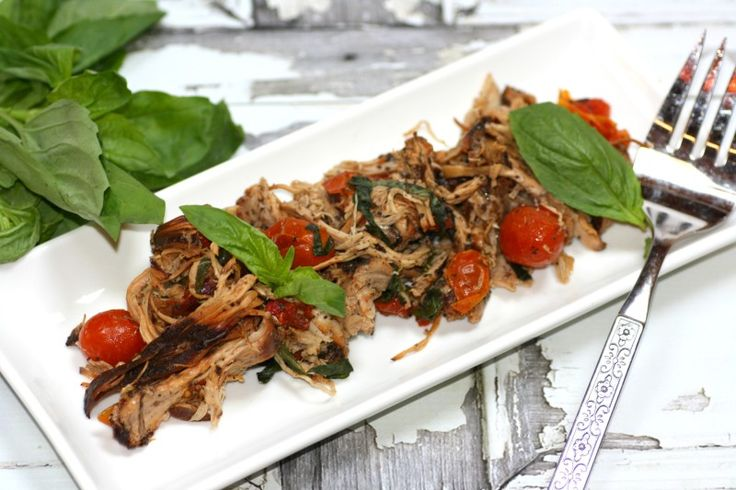 Healthy Slow Cooker Tomato Basil Chicken