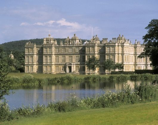 Longleat House - an English stately home and the seat of the Marquesses of Bath. It is adjacent to the village of Horningsham and near the towns of Warminster in Wiltshire and Frome in Somerset.