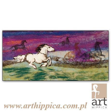 Horse - Painting - Holler Josef | PĘDZĄCY KOŃ |  A tapestry by Josef Holler. Signature: Josef Holler; Technique: tapestry; Dimensions: 180 x 85 cm; Exhibitions: Czech Parliament, Millennium gallery – Prague.