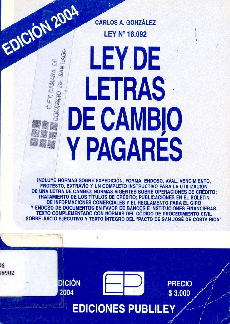 #leydeletrasdecambioypagarés #carlosgonzález #publiley #chile #pagaré #legislación #escueladecomerciodesantiago #bibliotecaccs