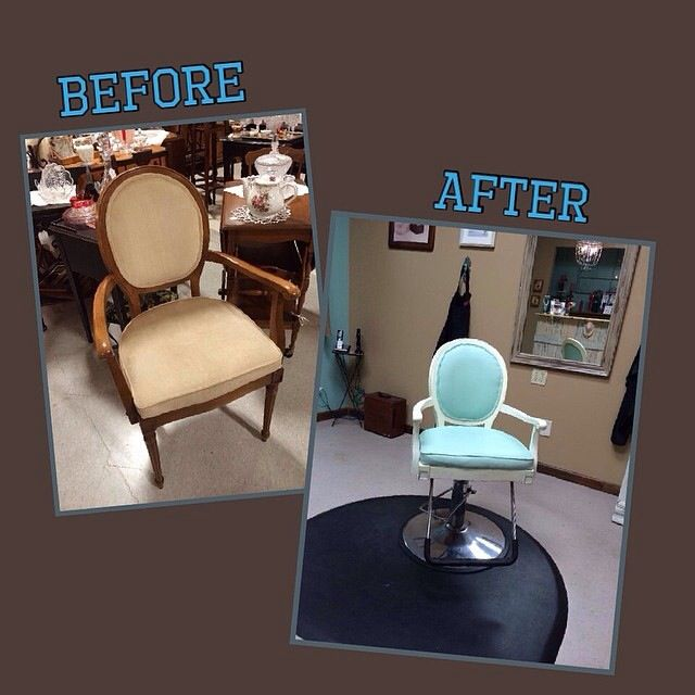 I LOVE RE-PURPOSING,..... RENEWING, transforming........... THIS IS My newest salon chair, shabby chic elegance! I name all my salon chairs, this is Elsa! I am in love!! She is now at her home, Bella La Vita Salon in Covington, Tn.