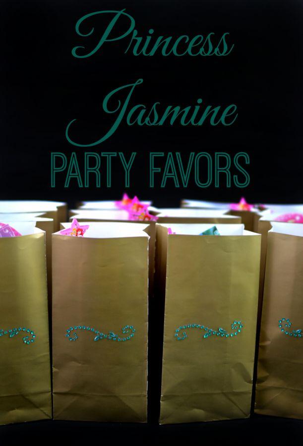 Make super easy Princess Jasmine Party Favors for an Aladdin or Jasmine themed Disney Princess birthday party!
