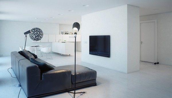 minimalist white apartment
