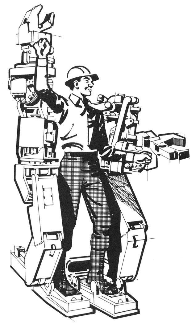 Экзоскелет - усиленный каркас для солдата